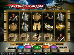 Fortunes of Arabia slotmachines77.com Omega Gaming 1/5