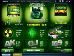 The Incredible Hulk slotmachines77.com Playtech 2/5
