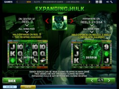 The Incredible Hulk slotmachines77.com Playtech 5/5