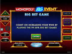 Monopoly Big Event slotmachines77.com William Hill Interactive 1/5