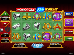 Monopoly Big Event slotmachines77.com William Hill Interactive 2/5