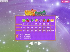 Wild7Fruits slotmachines77.com MrSlotty 5/5