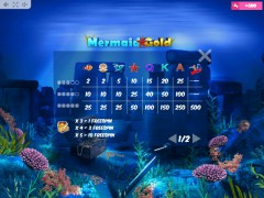 Mermaid Gold slotmachines77.com MrSlotty 5/5