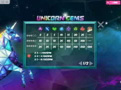 Unicorn Gems slotmachines77.com MrSlotty 3/5